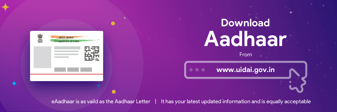 aadhar card download  how to download  print uidai e