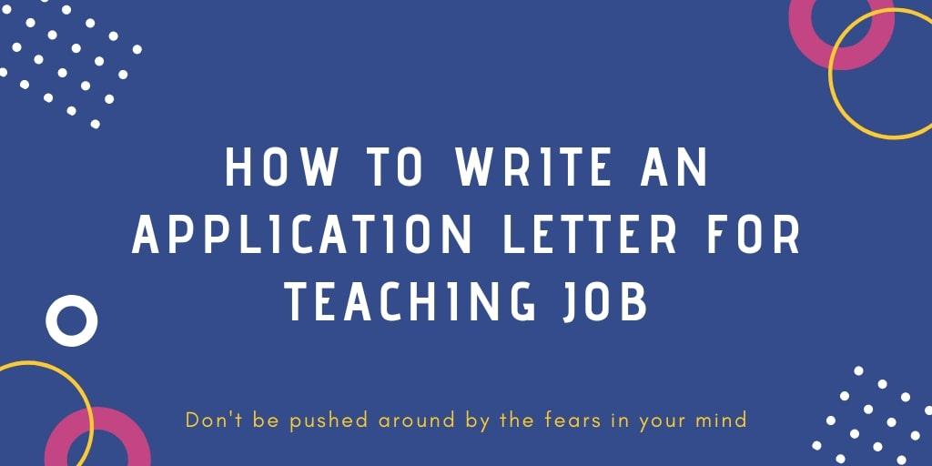 application for teacher job