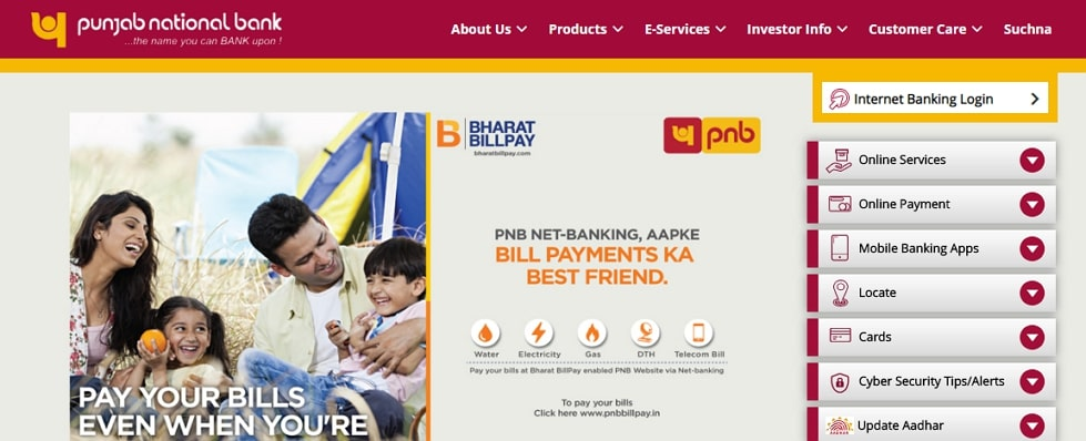 change mobile number in pnb